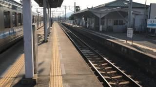 #鉄道 端岡駅 通過待ち