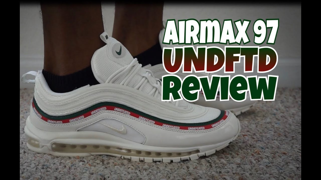 hot sale online 003e9 85977 NIKE AIR MAX 97 UNDEFEATED UNBOXING + ON FEET REVIEW | STOCKX UNBOXING