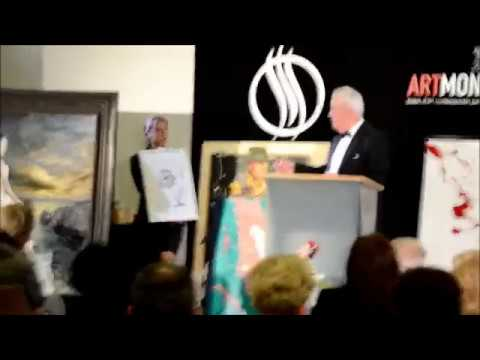 Auction by Christie's / Art Monaco-painting of Slovenian president Mr. Borut Pahor, April 2013