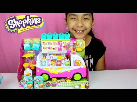 NEW Shopkins Scoops Ice Cream Truck Unbox and Review B2cutecupcakes