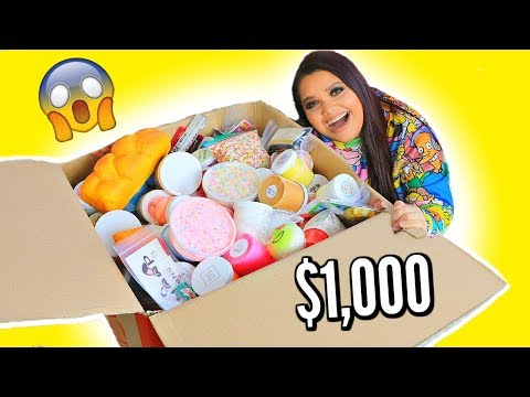 Download Youtube: $1,000 SLIME MYSTERY BOX