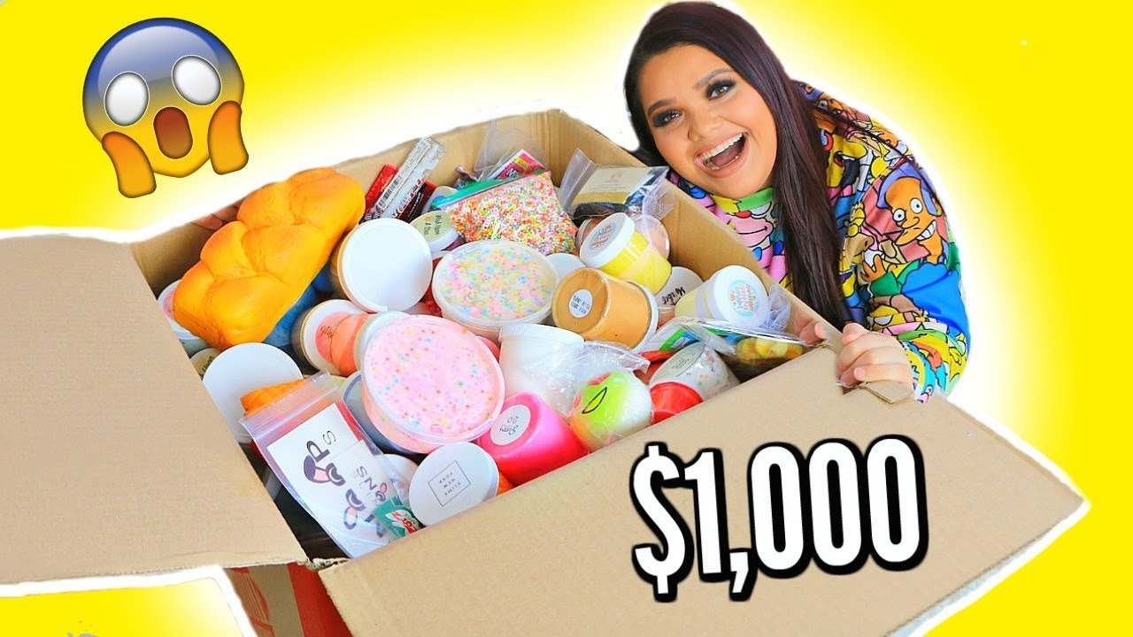 Squishy And Slime Mystery Box :   USD1,000 SLIME MYSTERY BOX - YouTube