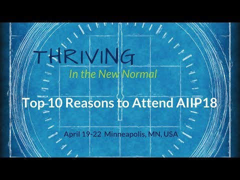 Top 10 Reasons  for Info Pros to Attend AIIP18