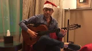 Jingle bells by waheed mamdouh fingerstyle  وحيد ممدوح