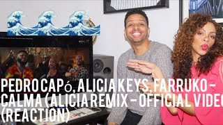 Pedro Capó, Alicia Keys, Farruko - Calma (Alicia Remix -)  (reaction)