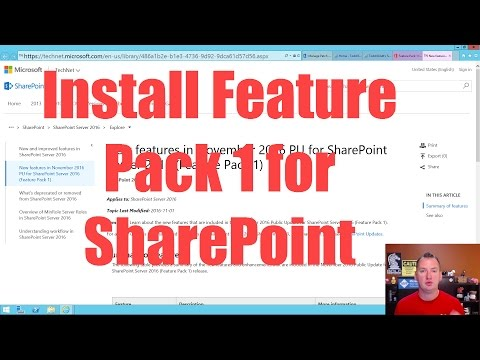 Install Feature Pack 1 for SharePoint 2016