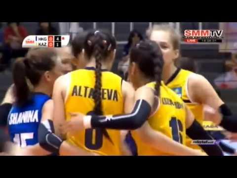 Kazakhstan vs Hong Kong   2016 Asian Women