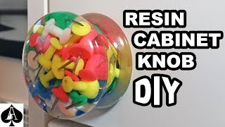 Making a Custom Cabinet Knob or Drawer Pull from Epoxy Resin DIY