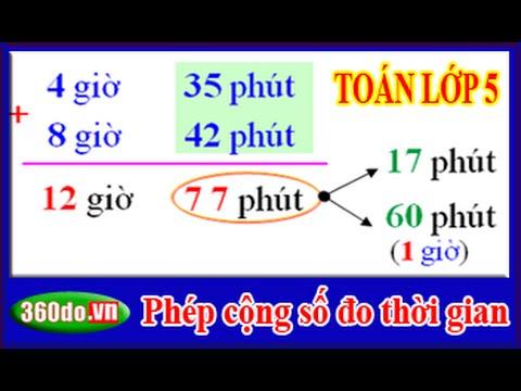 Toan Lop 5: Phép cộng số đo thời gian