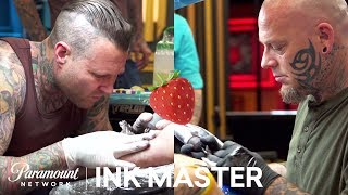 'Who Picked The Strawberry?' Cleen vs Christian Face-Off | Ink Master: Grudge Match (Season 11)