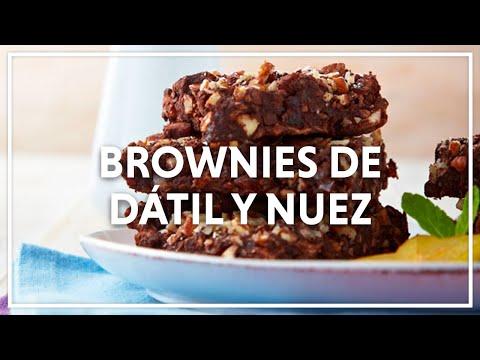 Brownies de dátil y nuez