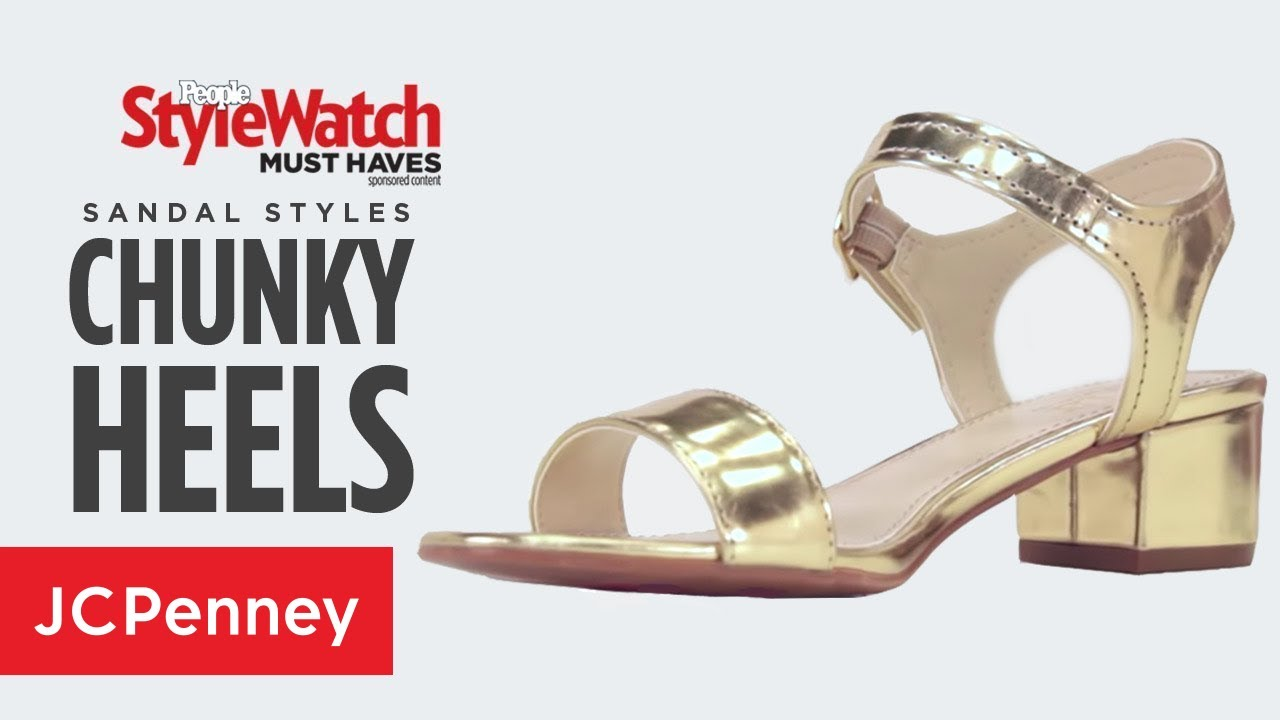 eecc7dd4603 How to Wear Metallic  Gold Chunky Heel Sandals