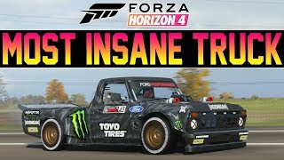 Forza Horizon 4 - INSANE Gymkhana HOONITRUCK W/ 1,400HP! - *New DLC Car*