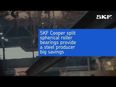 SKF Cooper split spherical roller bearings provide a steel producer big savings