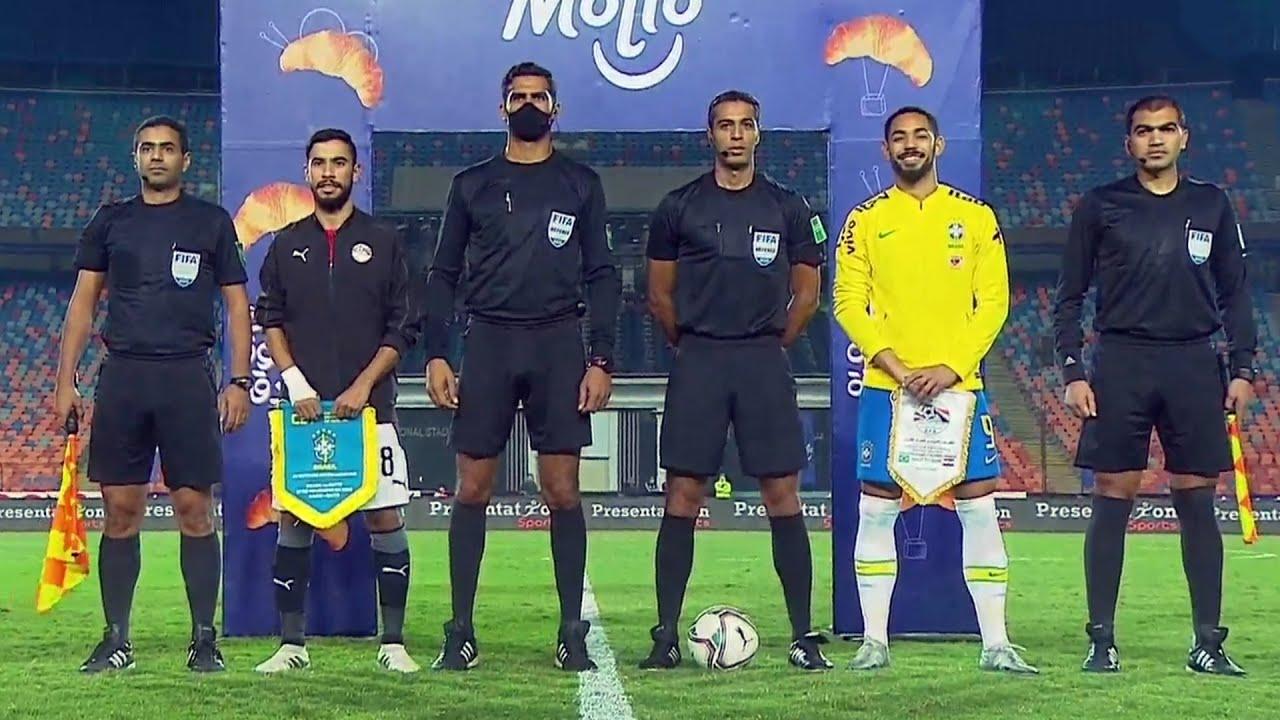 ملخص وأهداف مباراة مصر والبرازيل 2-1 الدورة الدولية الودية تحت 23 عام