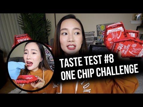 我被辣哭了!!! 世界第一辣玉米片!!! ONE CHIP CHALLENGE | Taste Test #8