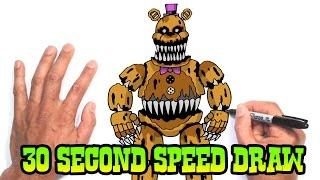 Nightmare Fredbear (FNAF 4)- Speed Draw Preview