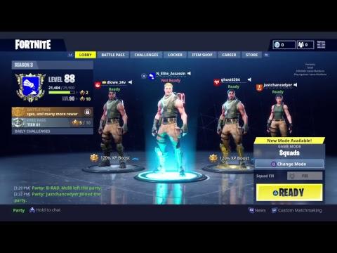 Fortnite Solo/Squad Live Stream(TOP 0.6% TRN RATING- 3.25 KD)