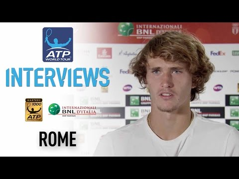 Interview: Zverev Thrilled To Be In First Masters 1000 Final Rome 2017