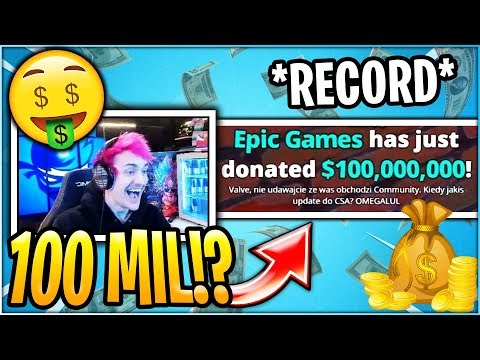 Streamer Reacts to $100,000,000 Donation From EPIC GAMES!