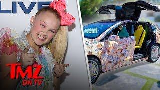 Jojo Siwa's New Tesla Is Wrapped In Her Face | TMZ TV
