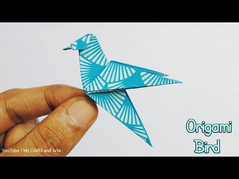 How to make an origami bird easily? | Origami for beginners and kids