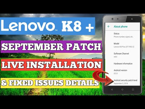 LENOVO K8 PLUS OCTOBER UPDATE FINALLY RECEIVED - YouTube