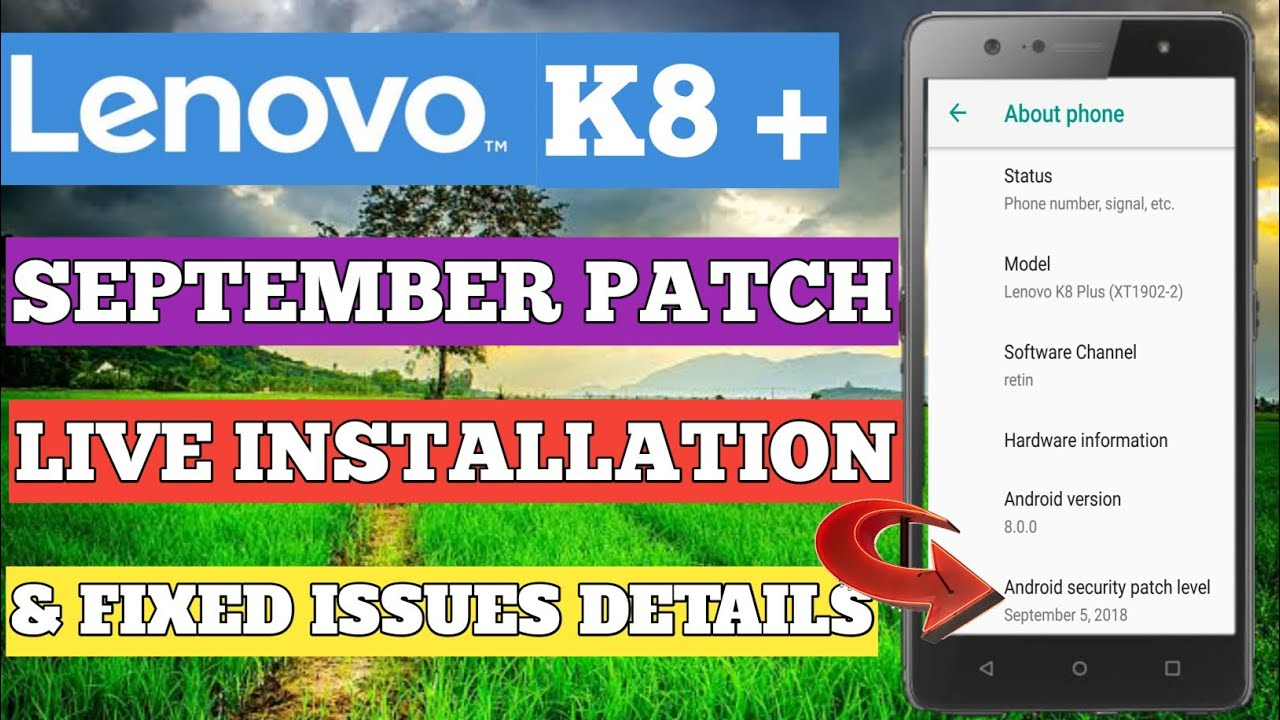 LENOVO K8 PLUS OCTOBER UPDATE FINALLY RECEIVED