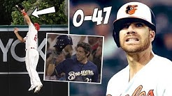 Mike Trout ROBS Christian Yelich HR + Chris Davis HITLESS Record (MLB Recap)