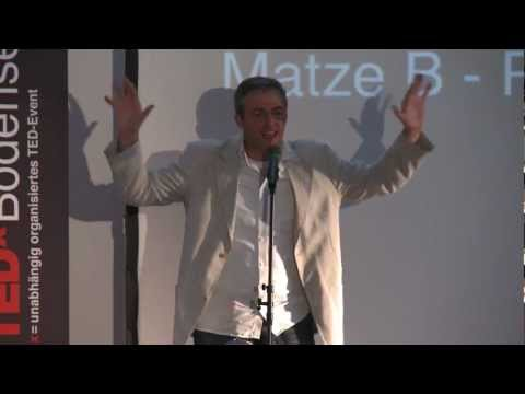 Poetry Slammer: MATZE B. at TEDxBodensee
