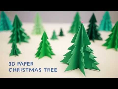 Origami Tree Origami 3d Paper Christmas Tree Youtube