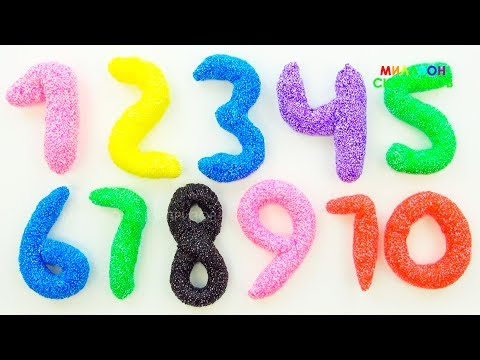 Лепим цифры из шарикового пластилина от 1 до 10 Учимся считать с печеньками для детей Компиляция