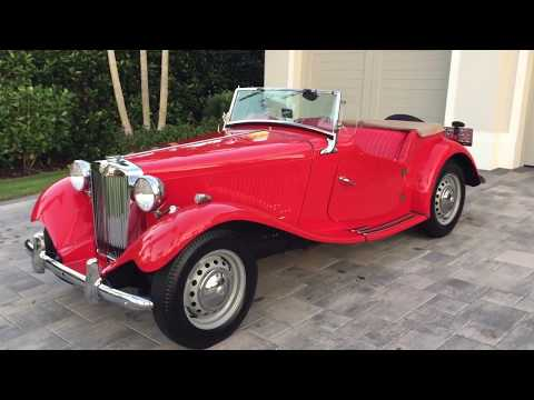 1951 - not 1953! MG TD Midget Review and Test Drive by Bill - Auto Europa  Naples - YouTubeYouTube