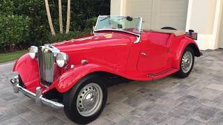 1951 - not 1953! MG TD Midget Review and Test Drive by Bill - Auto Europa Naples