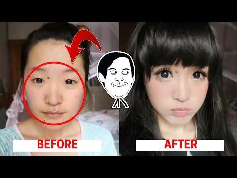 Wow........Ternyata Begini Wajah Asli Artis Korea Sebelum dan Sesudah Make-Up