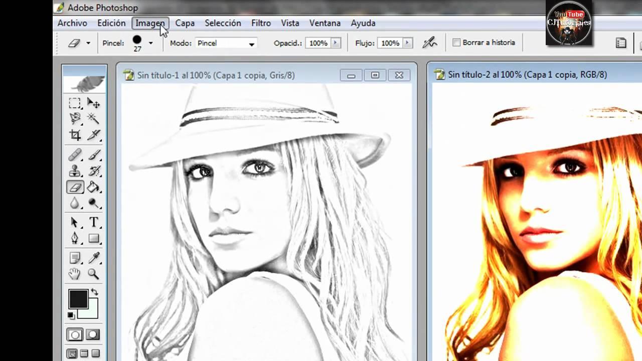 Dibujos Para Photoshop: Hacer Efecto De Dibujo En Photoshop