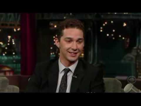 Shia Labeouf on David Letterman's show