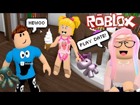 Roblox Adventures Baby Goldie First Play Date in Bloxburg! Roleplay with Titi Games