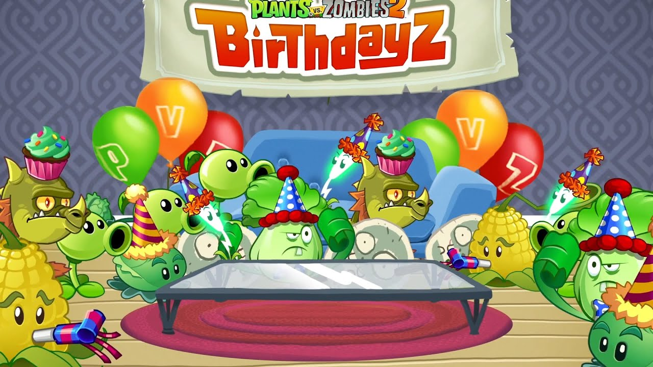 plants vs. zombies 2 - all birthday costumes - youtube