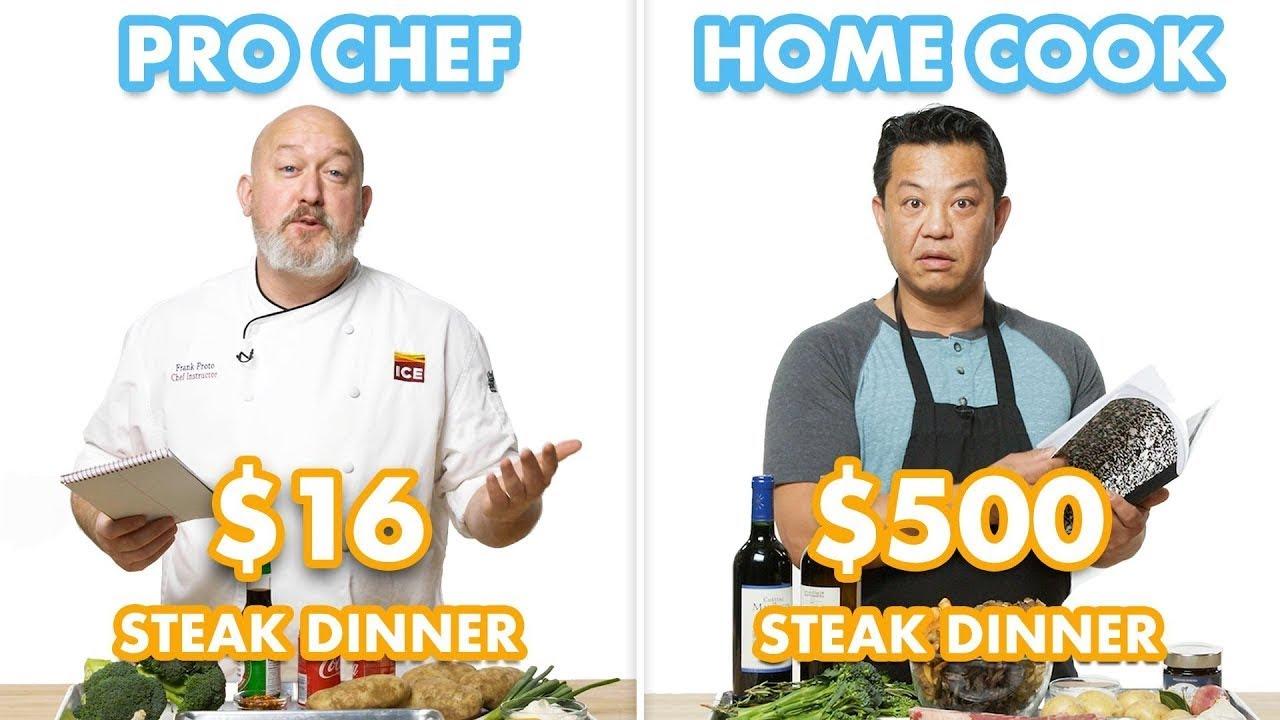 $500 vs $16 Steak Dinner: Pro Chef  Home Cook Swap Ingredients | Epicurious