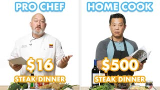 Download $500 vs $16 Steak Dinner: Pro Chef & Home Cook Swap Ingredients | Epicurious Mp3 and Videos