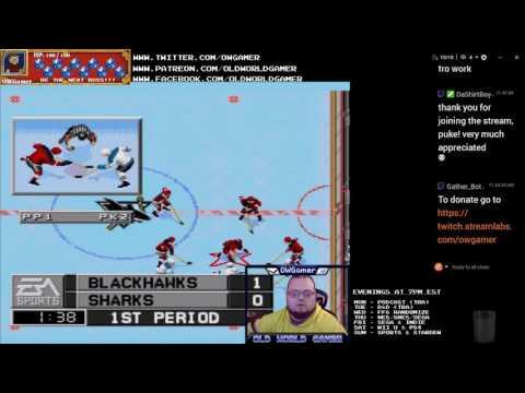 NHL 96 Season 1, Game 10: Chicago Blackhawks vs San Jose Sharks