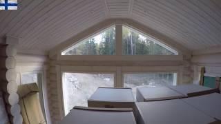 Как сделать галтели на наклонных переходах мансардного потолка .Строительство в Финляндии .