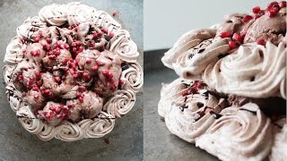 How To Make Chocolate Ice Cream Pavlova - By One Kitchen Episode 612
