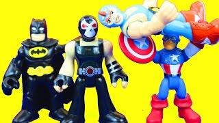 imaginext wrestler and bane take on gotham city poilice batman captain america dc superhero toys