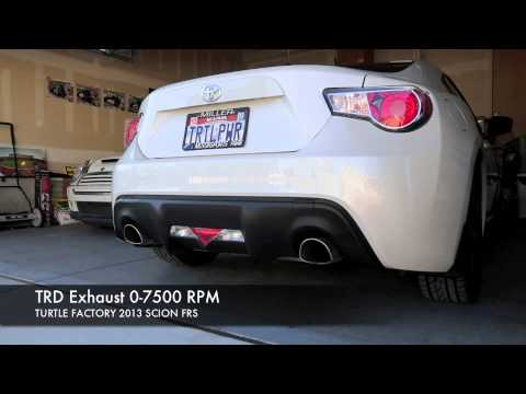 TRD Exhaust 2013 SCION FRS Post Vehicle Break In Period  YouTube