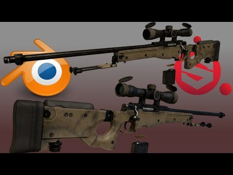 Speed Modeling: L96A1 (Blender & Substance Painter)