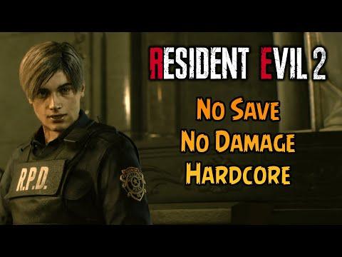 NO SAVE NO DAMAGE! (Hardcore) - Resident Evil 2 Remake Challenge Run!