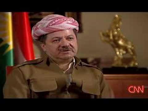 Kurdistan Leader Massoud Barzani Interview 1.6.2008 CNN TV