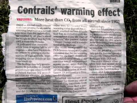 Contrails blamed for Global warming in media, Air Canada employees FAIL